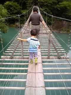 寸又峡の吊橋
